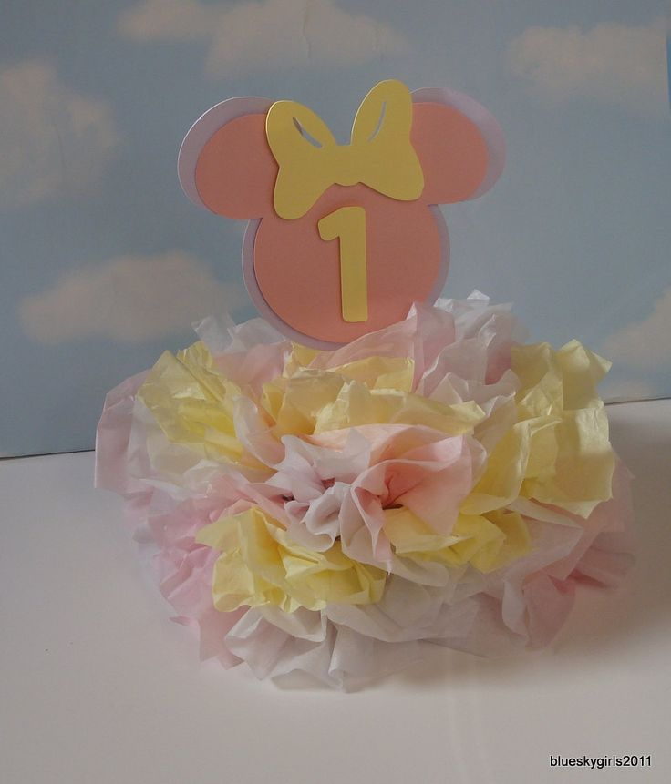 Baby Minnie Mouse Centerpiece Decoration KIT DIY Complete Birthday 1st ...