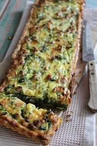 Full of flavour, crunch and a delicious way to enjoy watercress. Watercress, Sour Cream, Walnut & Parmesan Tart
