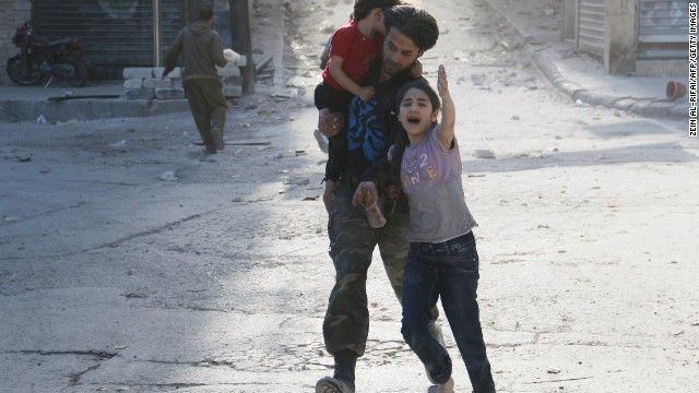 Syrian rebels bomb hotel that houses government forces - CNN #Syria, #Bombing
