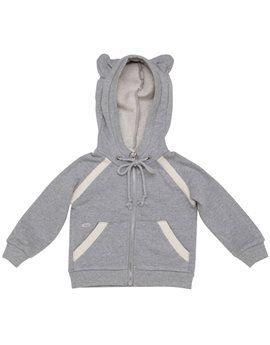 TALC Grey Fleece Sweat Jacket with Mouse Ears. Shop here: http://www.tilltwelve.com/en/eur/product/1061725/TALC-Grey-Fleece-Sweat-Jacket-with-Mouse-Ears/