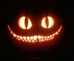 Image result for pumpkin designs cheshire cat