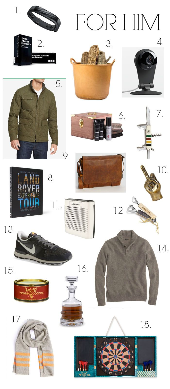 Gift Guides 2014: For Him (elements of style) | Gift, Christmas ...