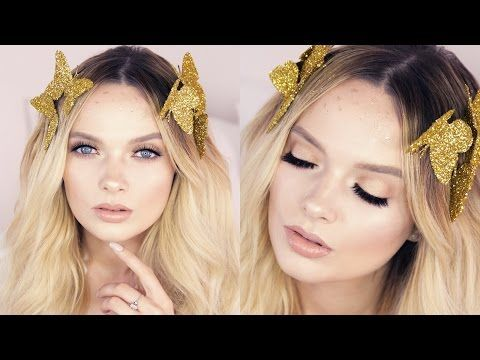 Snapchat butterfly filter makeup look. Diy butterflies w/bobby pins to attach