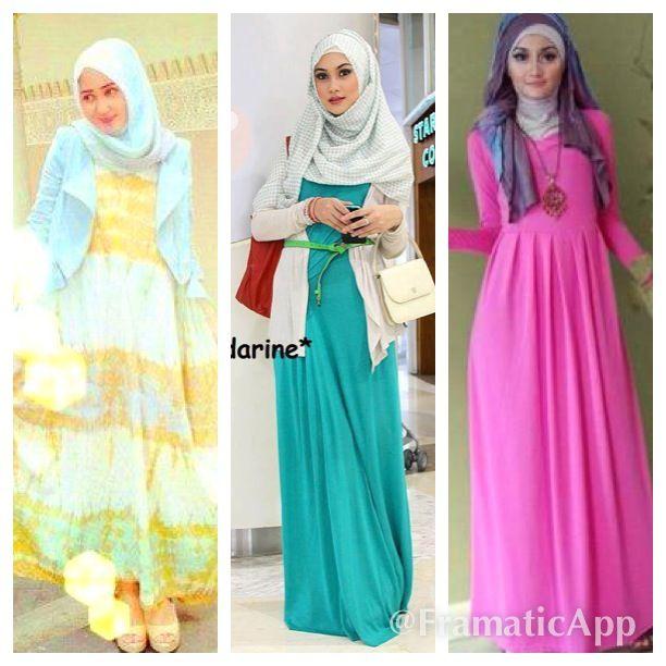 Porté avec des robes longues juste magnifique je trouve!!le HijaB va avec tout il suffit de savoir l'assortir à notre tenue du jour