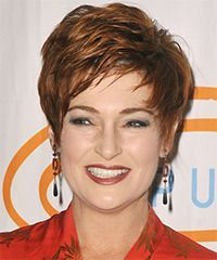carolyn hennesy short straight formal hairstyle with side