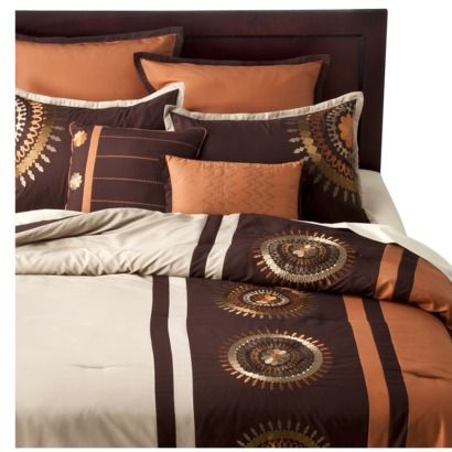 medallion 8 piece bedding set orange saw this in store would look really - Really Cool Bedding