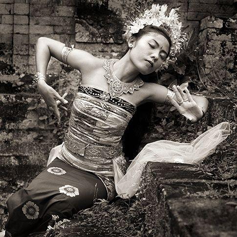 Traditional Dancer with Crown, Bali, 1988 by Dana Gluckstein