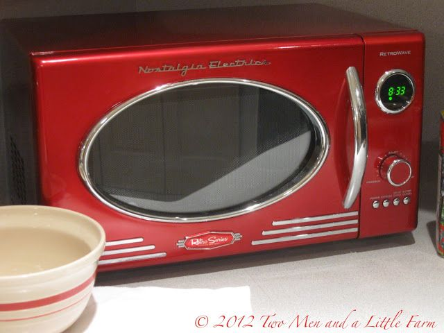 Two Men and a Little Farm: RETRO RED MICROWAVE FOR THE FARM