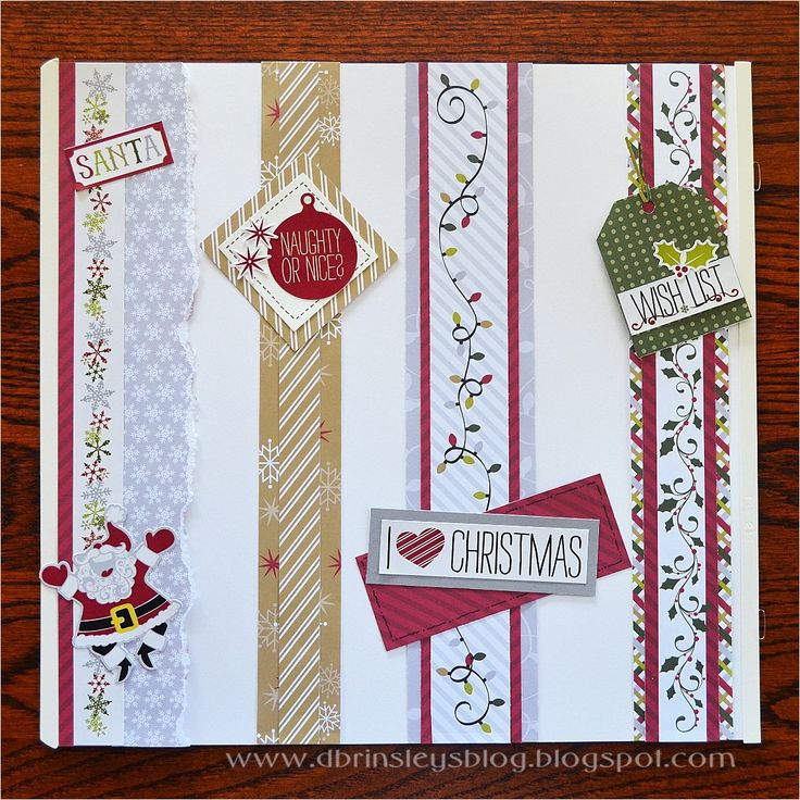 Holiday Blog Hop - Stop 1  Christmas borders made with Creative Memories Products www.creativememories.com/user/CandaceBouldin