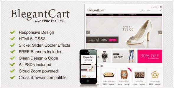 Themeforest ElegantCart - A Premium, Responsive OpenCart Theme http://theme4est.blogspot.com/2014/05/themeforest-elegantcart-premium.html