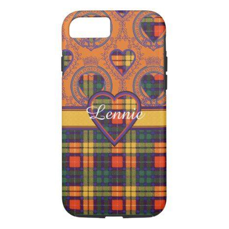 Lennie clan Plaid Scottish kilt tartan iPhone 8/7 Case #tartan #protective #cases