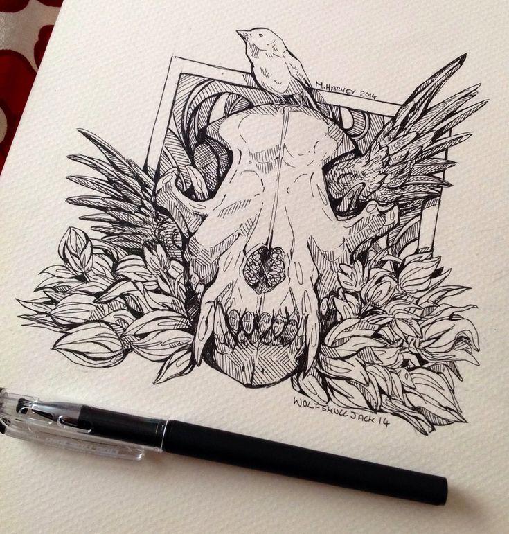Wolf Skull Wing by WolfSkullJack on deviantART
