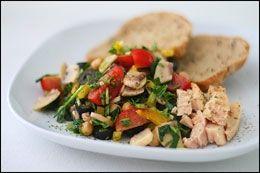Гавайский салат с тунцом