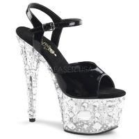 Pleaser Shoes Adore-709MR Clear Exotic Dancer Platforms | Fashion This Week