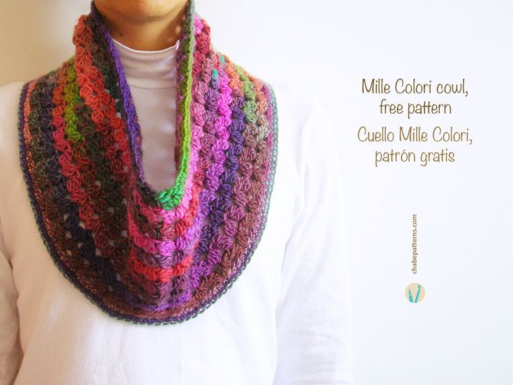 Cowl free pattern, chart with symbols, photo tutorial and written instructions/ Patrón gratis de cuello tejido, esquema con símbolos, foto-tutorial e instrucciones escritas by Chabepatterns