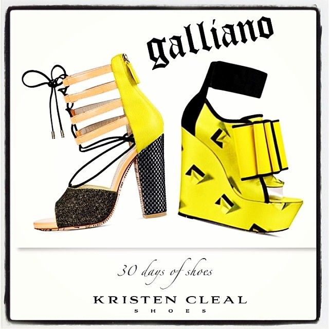 FANCY A GALLIANO THIS SUMMER!? SHOE # 21 of my 30 DAYS OF SHOES- John Galliano, Spring/Summer 2014 Shoes.  These wilder than wild shoes featured quirky Velcro oversized triple bows