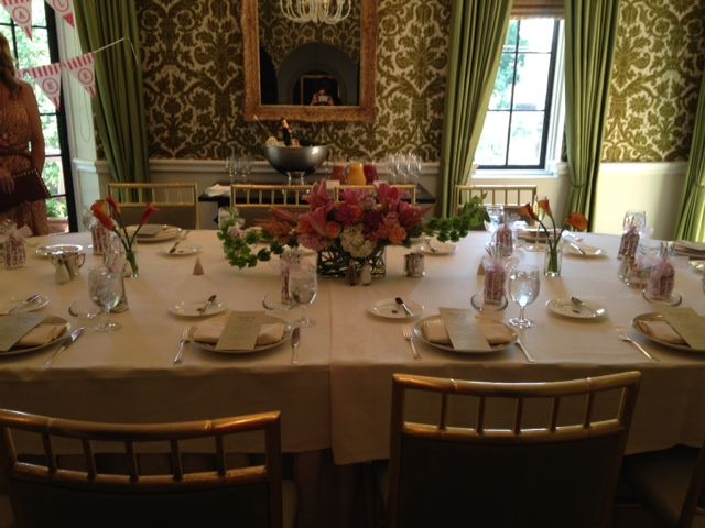 Bridal Shower Tablescape At The Rosewood Mansion Turtle Creek In Dallas