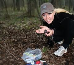 Geocashing - a lucky hunter