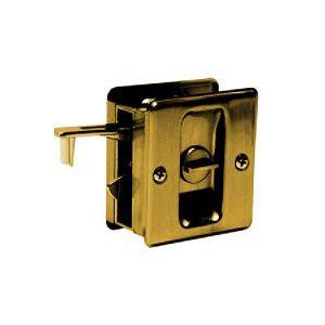 Schlage Lock SC991B-609 Schlage Builders Hardware Antique Brass Privacy Pocket Door Latch