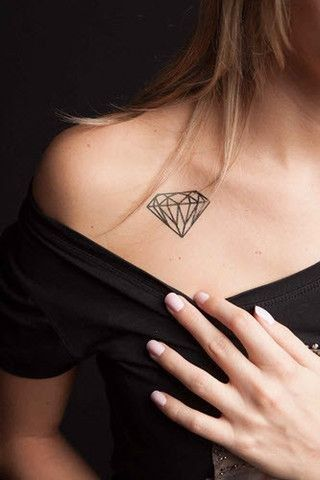 ¡Brilla con luz propia con estos tatuajes de diamantes!