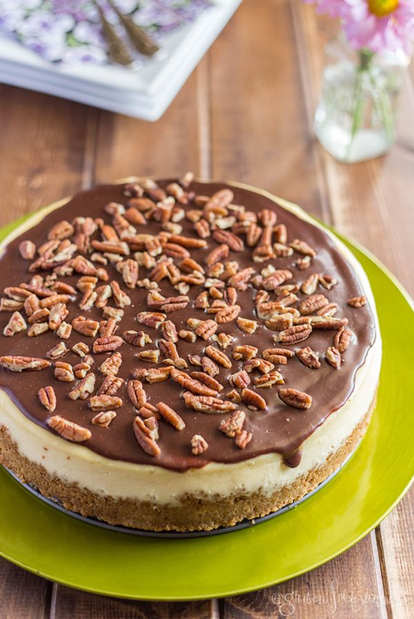 Turtle Cheesecake with Gluten-Free Granola Crust