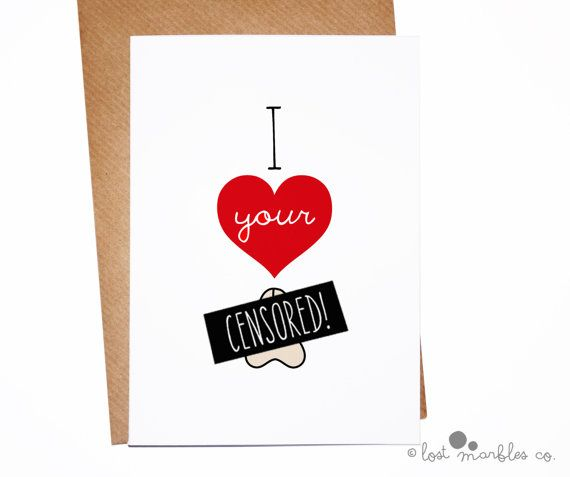 Sexy Anniversary Card Rude Valentines Card by LostMarblesCo