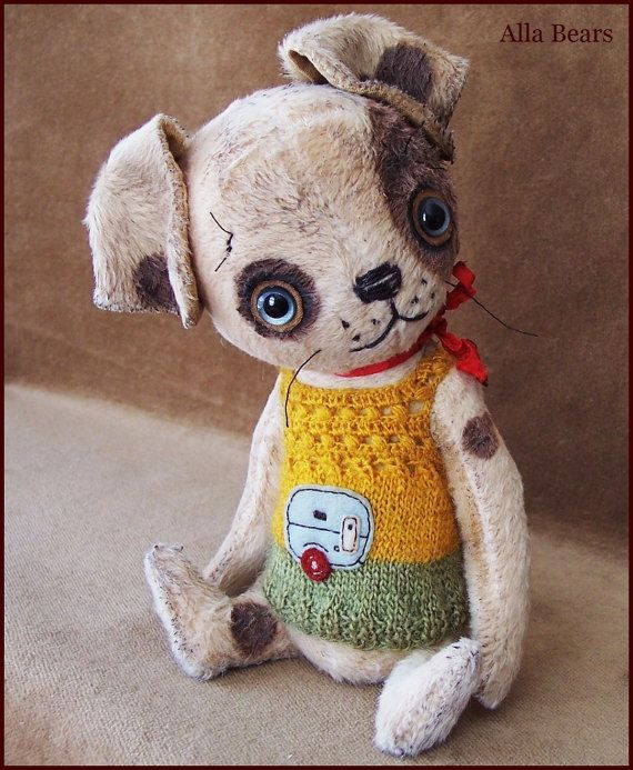 By Alla Bears TINY original 7.75 artist OOAK Vintage by AllaBears