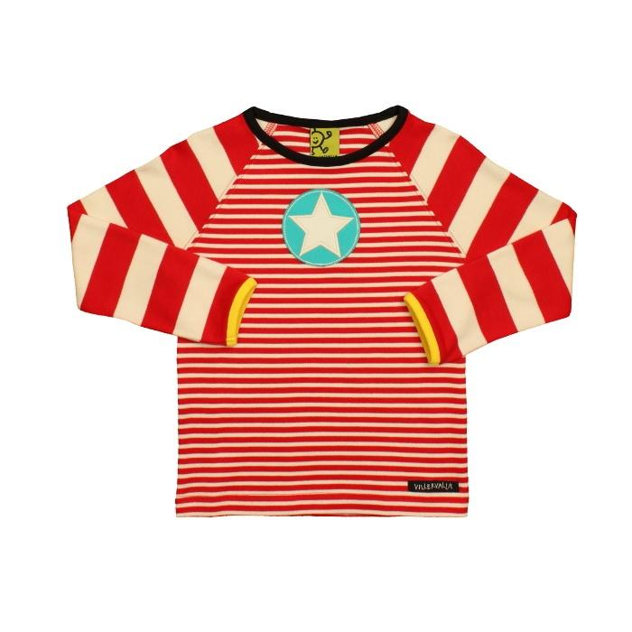 Villervalla barnkläder - t-shirt l/s CHERRY/MARBLE