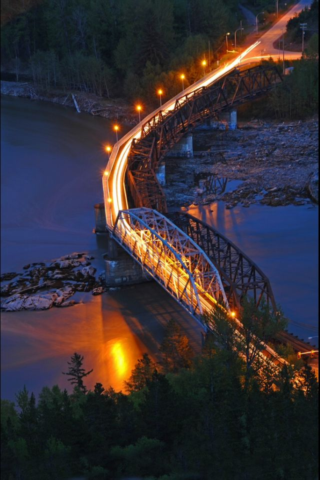 A long time ago, I called this place home. Passed over this bridge hundreds of times. Old Skeena Bridge, Terrace, British Columbia, Canada Gorgeous!!!