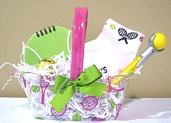 126 best gift basket ideas images on pinterest creative gifts diy exclusive tennis items from womens tennis world tennis gift basket negle Images