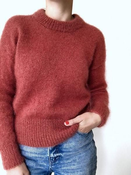 d326ed9c Knitting pattern for the beautiful and soft Stockholm sweater by  Petiteknit. Knitted in two strands