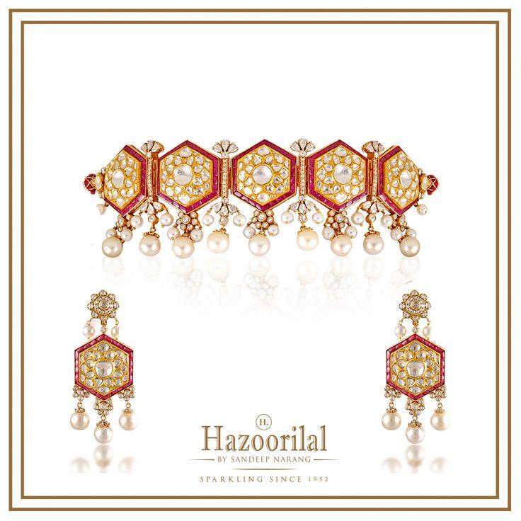 Every piece is handcrafted at #HazoorilalBySandeepNarang keeping all elements in harmony to create the perfect masterpiece.  #Hazoorilal #PristinePolki #BridalJewellery #UncutDiamonds #Rubies #Chokers #ItcMaurya #DlfEmporio #hazoorilaljewellersGK #everypieceamasterpiece