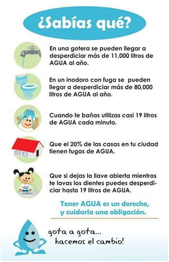 Foto: Los datos de hoy para cuidar el Agua. Atención es importante!