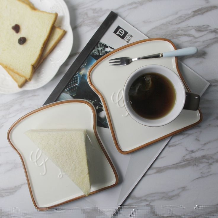 Лучшие 6.5 дюймов творческий toast формы керамическая тарелка фарфор поднос еды кухонный инвентарь посуда малыш завтрак хлеб пластины