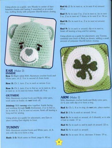 23 best Care bear crochet images on Pinterest   Care bears, Hand ...