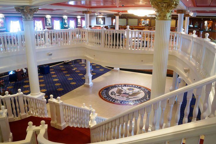 Atrium, Pride of America ~ Never Bored Onboard: Cruise Like a Hawaiian on Norwegian Cruise Line's Pride of America | Popular Cruising (Image Copyright © Mark Leppert)