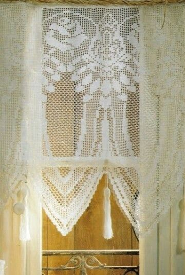 Page 1 of 2 Filet Crochet Curtains