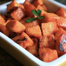 This recipe calls for diced sweet potatoes to be seasoned with brown sugar, cumin, and cayenne pepper and cooked on a grill in a pouch of aluminum foil.