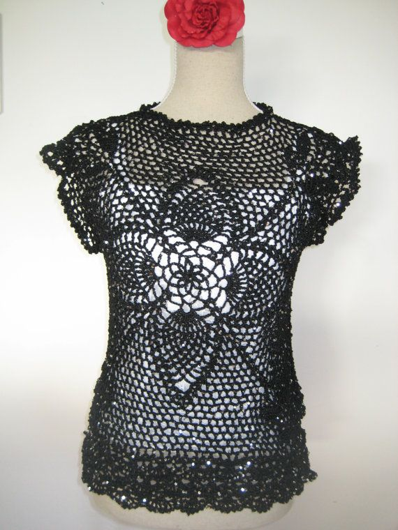 Vest  Paillette Light Black Silver Polyester by MinnieCreation, €65.82