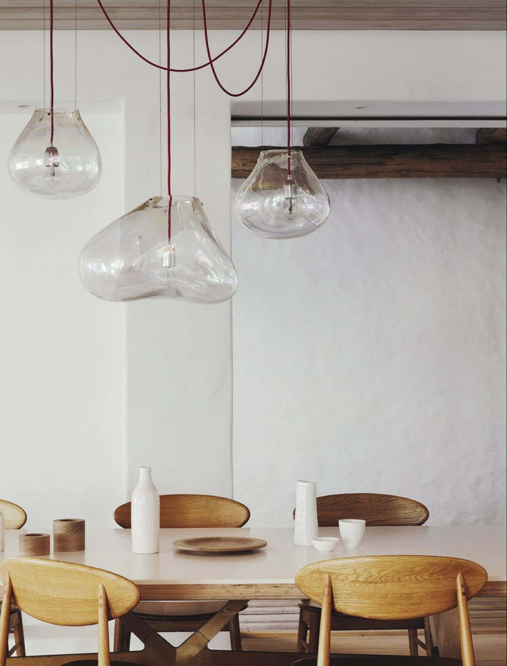 The Takahashi Asako Dining Chairs Are From Mark Tuckey And Hand Blown Glass Fontana Arte Bollo Lights
