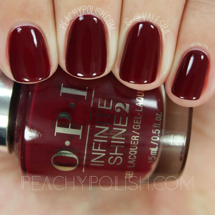 OPI Malaga Wine | Infinite Shine Iconic Collection | Peachy Polish #TheBeautyAddict