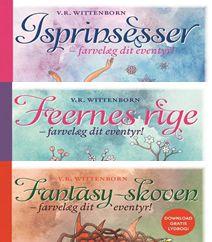 """De tre børnebøger """"Isprinsesser"""", """"Feernes Rige"""" og """"Fantasy-skoven"""" er alle forfattet og tegnet af Vivian Rea Wittenborn, der også går under kælenavnet """"ColourCat"""". De tre første bøger er flot illustreret med elegante flotte sort/hvid-tegninger, som kan farvelægges af læseren. Klik på forsidefotoet og læs mere om disse fine bøger og der er både bøger til drenge om riddere og helte samt bøger til piger med prinsesser og feer."""