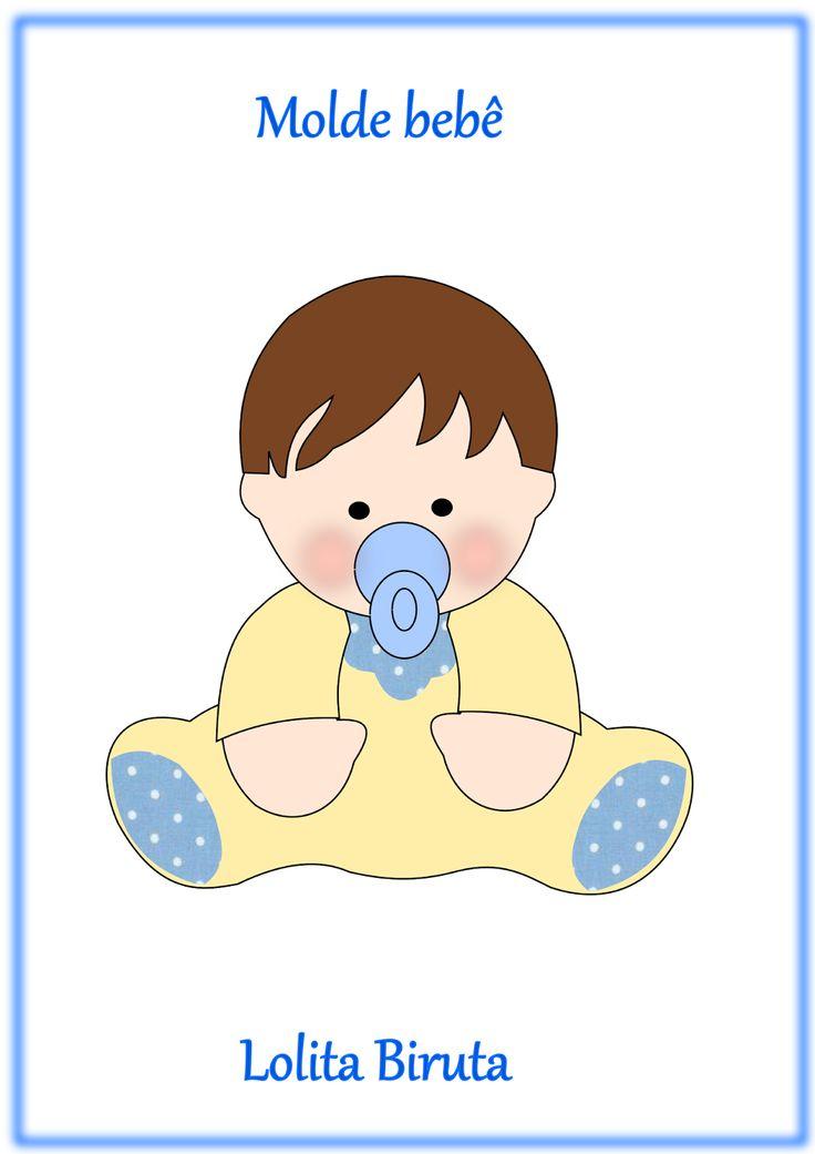 Molde bebê sentadinho em feltro