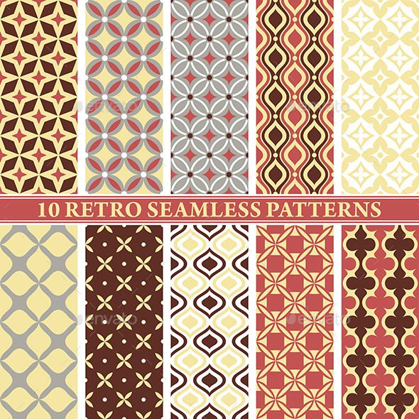 Retro Seamless Patterns Seamless patterns, Retro vector