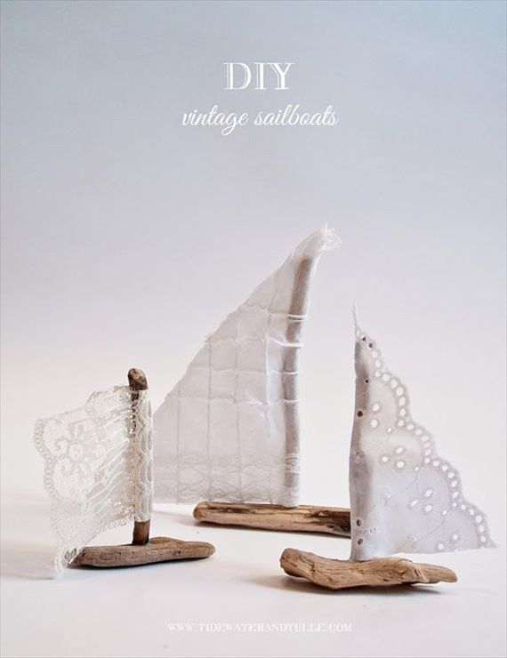 @Debbie Arruda Arruda Arruda Arruda Shepherd Kines and Tulle used our #driftwood to create these lovely #DIY #vintage sailboat #wedding favors!  Thank you @Julia Erickson Bride - Handmade Wedding Blog for sharing the tutorial!