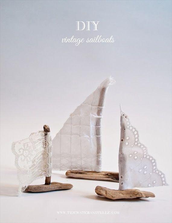 DIY Lace Sailboats