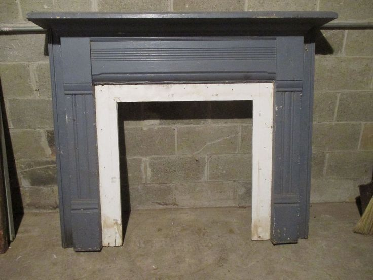 ~ SIMPLE ANTIQUE FARMHOUSE FIREPLACE MANTEL 1 OF 2 ~ ARCHITECTURAL SALVAGE ~
