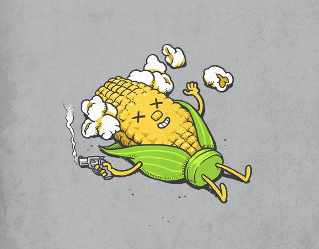 Reporting the death of Mr. Corn, a season old, lived life in a open field with tons of friends.... tragically took his own life today.  (nothing could be so bad to commit suicide).