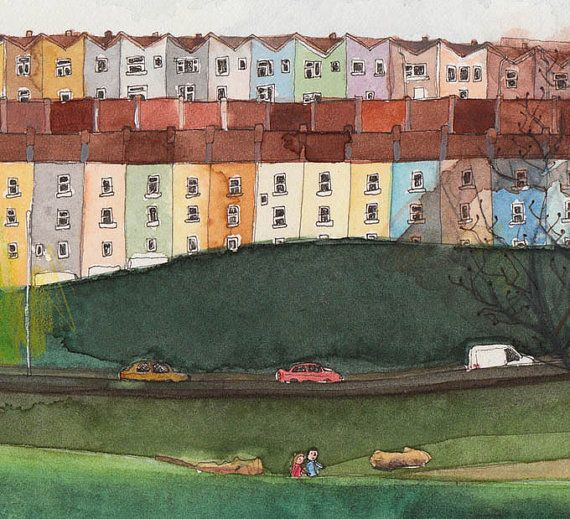 colourful drawing of bristol houses - Google Search