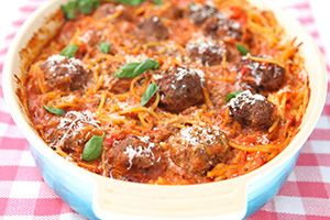 One-Pot Baked Spaghetti and Meatballs